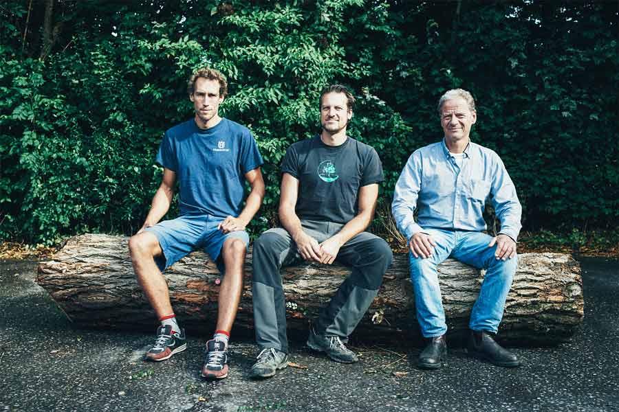 Die Geschäftsführer der Baumspezialisten GmbH - Moritz Theuerkauf, Tim Kärtner und Reent Bruns