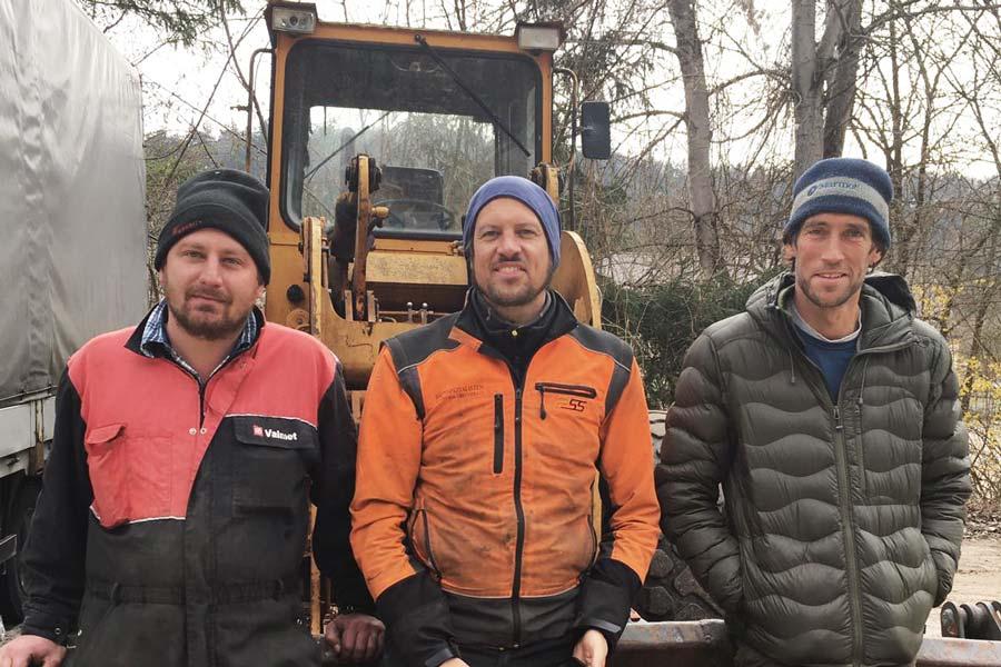 Das Team der KTS Land- und Forsttechnik UG (v.r.n.l.) - Moritz Theuerkauf, Tim Kärtner und Martin Simson